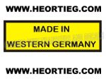 ZUNDAPP MADE IN WESTERN GERMANY TRANSFER DECAL DZU1